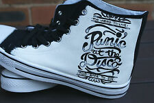 PANIC AT THE DISCO CUSTOM HAND PAINTED HIGH TOPS MADE TO ORDER