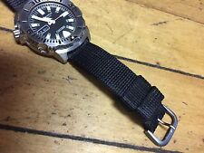 Seiko Divers Thick Nylon Watch Strap 20mm  Black Band