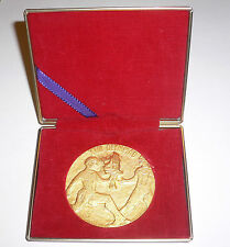 1964 Olympic Games Tokyo OFFICIAL MEDAL Olympic Torch Relay in CASE 24k. GOLD p.