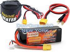 COMBO SKYRC Nitro Engine Head Heater Low Voltage Cutoff 12V w 11.1V 3000mAh LiPo