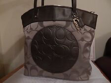 NWT COACH F18335 LAURA SIGNATURE BROWN KHAKI NEW WITH TAGS TOTE PURSE HANDBAG