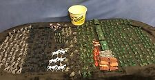 Little Green Army Men Toy Lot - Over 445 Piece Collection - Tanks, Horses + WOW!