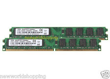 4GB 2X 2GB 2RX8 DDR2 PC2-6400U 800Mhz 240pin DIMM RAM Desktop Memory PC6400 CL6