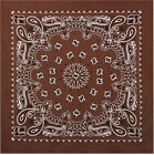 "Brown Trainmen Cotton Paisley Biker Sport Bandana 22"" x 22"""