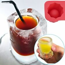 DIY 1-Cup Shape Rubber Shooters Ice Cube Shot Glass Freeze Mold Maker Tray Party