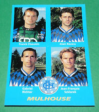 N°396 CHAUMIN RAVERA RICHTER MULHOUSE D2 PANINI FOOT 96  FOOTBALL 1995-1996