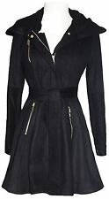 Laundry By Shelli Segal NWT Size Small Black Belted Side Zip Pockets Fully Lined