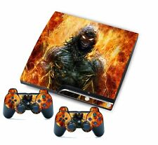 Fire Man for PlayStation 3 PS3 Slim Console Controller Custom Stickers Skins