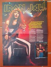 IRON MAIDEN Steve on and off stage Centerfold magazine POSTER  17x11""