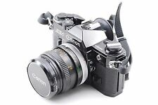Canon AE-1 35mm SLR Film Camera Black with FD50mm 1:1.8 s.c lens From Japan