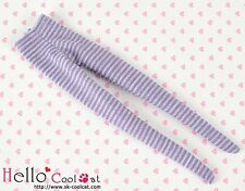 ☆╮Cool Cat╭☆【PP-107】Pullip Pantyhoses Doll Socks # Thin Stripe Purple+Grey