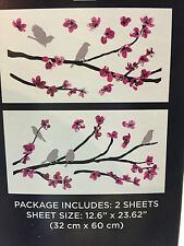 DCWV Home Peel and Stick Wall Art Birds on A Flowery Branch NIB