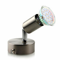 GU10 LED Deckenlampe Spots Strahler Wandlampe Deckenleuchte Lampe 1 Strahler