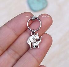 2pcs Elephant Cartilage helix piercing Hoop Earring Body Jewelry  Fashion