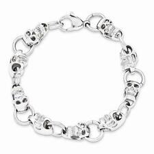 New Chisel Stainless Steel Polished Skull Bracelet 8.75""
