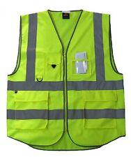 5 Pocket High-Vis Warning Reflective Tape Strips Safety Vest ANSI CLASS 2 Size L