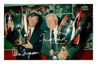 Sir Alex Ferguson & Matt Busby Signed Autograph Photo Print Manchester United