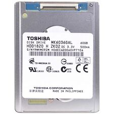 "Toshiba MK6036GAL 60GB 4200RPM 2MB 1.8"" PATA/ZIF HARD DRIVE NEW 1 YEAR Warr"