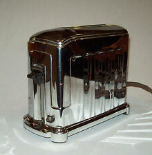 Nice old vtg 1930s Waters-Genter Electric Toaster Art Deco single slice WORKING
