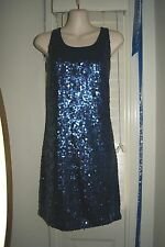 New NWT Vince Camuto Navy Sequin Cocktail Formal Evening Dress Sz S Small $185