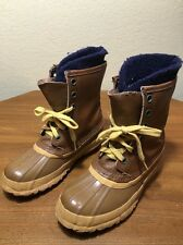 Vtg SOREL ARCTIC PAC brown leather winter snow Boots Duck Pacs Felt Lined 8?