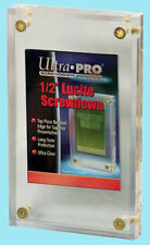 "1 Ultra Pro 1/2"" LUCITE SCREWDOWN Card Holder NEW Clear Storage Display Case"
