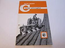 Vintage 1960's David Brown C Type Plough Tractor Brochure LOTS More Listed