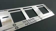 2X NISSAN EUROPEAN LICENSE NUMBER PLATE SURROUND FRAME HOLDER.