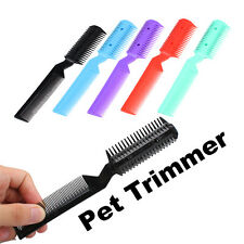Pet Hair Trimmer Comb 2 Razor Cutting Cut for Dog Cat Clean Love Pet New