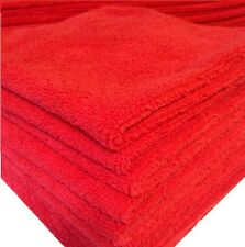 20 PACK NEW MICROFIBER TOWELS CLEANING TOWEL PLUSH 16X16 300 GSM LINT FREE RED