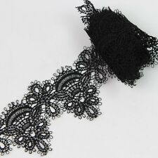 2 Yards Flower Embroidered Lace Trim Venice Fabric Sewing Crafts Dress Applique
