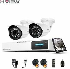 H.View HD Home Security Camera System With 1TB HDD, 4CH AHD 720P CCTV DVR Kit