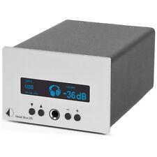 Pro-Ject Head box DS (high-end auriculares con amplificador) plata/Silver nuevo + embalaje original!