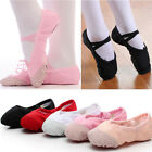 Girls Kids Adult Canvas Ballet Dance Flat Shoes Slippers Gymnastics Fitness Hot
