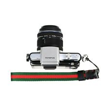 Red/Green Knitted Grosgrain Camera Wrist Strap for Sony/Canon/Nikon Cameras