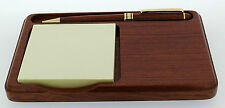 Rosewood Desk Notelet Holder with Pen