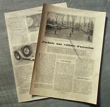 Document Achat d'une voiture d'occasion conseils  1926