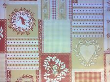 "2.6m/102"" stags wipe clean hearts vinyl pvc christmas oilcloth TABLECLOTH CO"