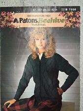 "Patons Knitting Pattern: Ladies Chunky Cardigan Jacket, 32-42"", 7356"