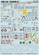 "Print Scale 72-070 Decal for OH-58 ""Kiowa"" 1:72"
