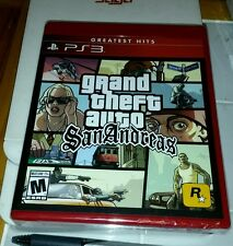 GRAND THEFT AUTO SAN ANDREAS PS3 RETAIL GAME YFOLD FACTORY SEALED BRAND NEW