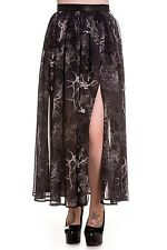 Spin Doctor Gothic Victorian Steampunk Vintage Long Spider Web Skirt