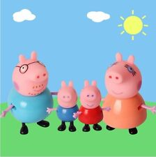 4 Figuren Set Peppa Pig Family Schwein Familie Mama Wutz Daddy George..
