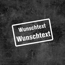 1x Aufkleber Mülltonne Briefkasten Tür Fenster Hausnummer Wunschtext Garage