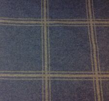 Colefax & Fowler Wool Upholstery Fabric- Lisle Check/Blue- 2.55 yd (F3827-06)