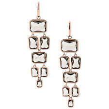 Michael Kors ROSE Gold-Tone Grey Parisian Jewels Chandelier Drop Earrings NWT