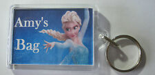 Personalised Frozen Elsa Keyring  Ideal For: Book Bags Tags, Name Tags