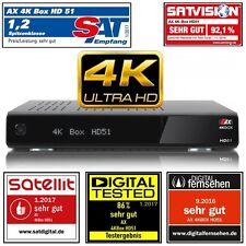 AX 4K-BOX HD51 UHD 2160p E2 Linux Receiver mit 1x(DVB-S2) Tuner mit PVR