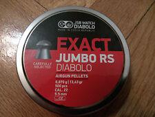 JSB exacta Jumbo RS Diabolo Pellet Cal.: .22 (5.52mm) El Mejor Precio en eBay