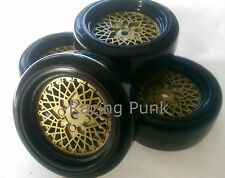 RC Car 1/10 EP 26mm 3mm OFFSET Wheel Rim DRIFT Tyre Tire CLASSIC BBS FM gold